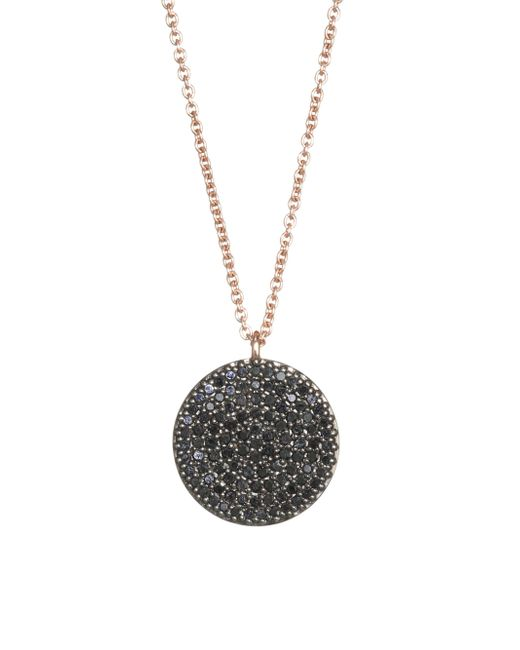 Astley Clarke - Metallic The Icon Black Diamond & 14k Yellow Gold Pendant Necklace - Lyst
