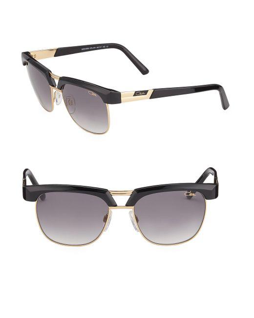 Cazal | Black Half-rim Aviator Sunglasses | Lyst