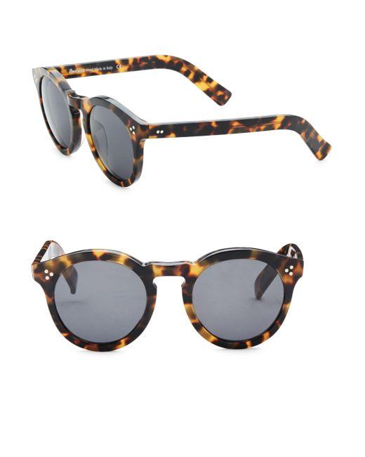 Illesteva - Multicolor Leonard Tortoise Sunglasses - Lyst