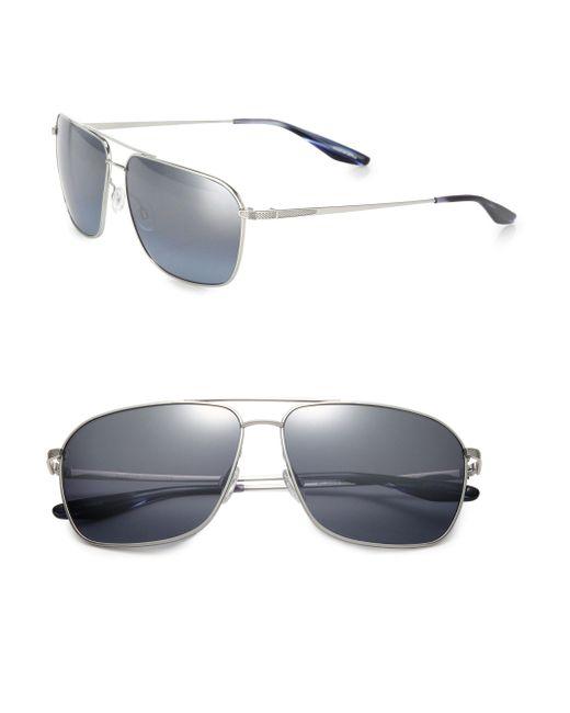 Barton Perreira - Metallic 61mm Troubadour Aviator Sunglasses for Men - Lyst