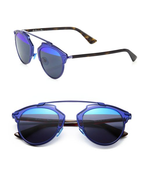 Dior - Blue So Real 48mm Pantos Sunglasses - Lyst