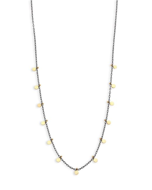 Sia Taylor | Metallic Dots Sterling Silver & 18k Yellow Gold Necklace | Lyst