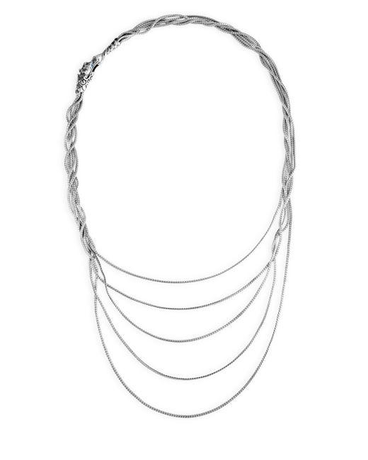 John Hardy - Metallic Legends Naga Black & Blue Sapphire Five-row Necklace - Lyst