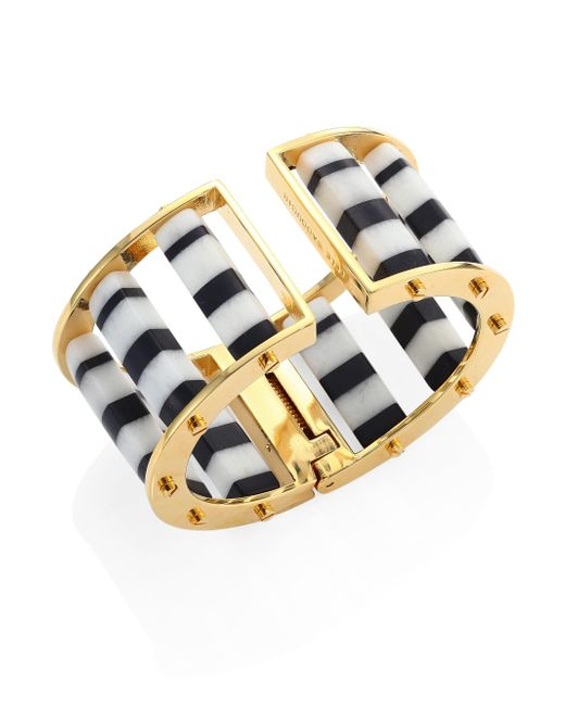 Lele Sadoughi | Metallic Striped Column Slider Bracelet | Lyst
