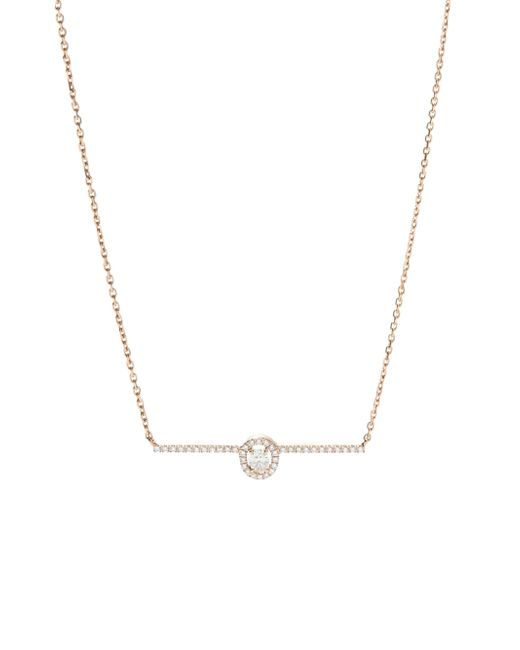 Messika - Metallic Glam'azone Diamond & 18k Pink Gold Pendant Necklace - Lyst