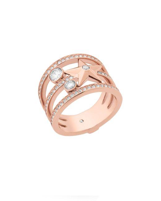 Michael Kors - Pink Celestial Crystal Star Ring - Lyst