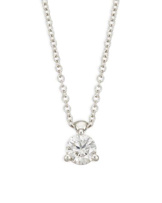 Hearts On Fire - Metallic Diamond & 18k White Gold Pendant Necklace - Lyst