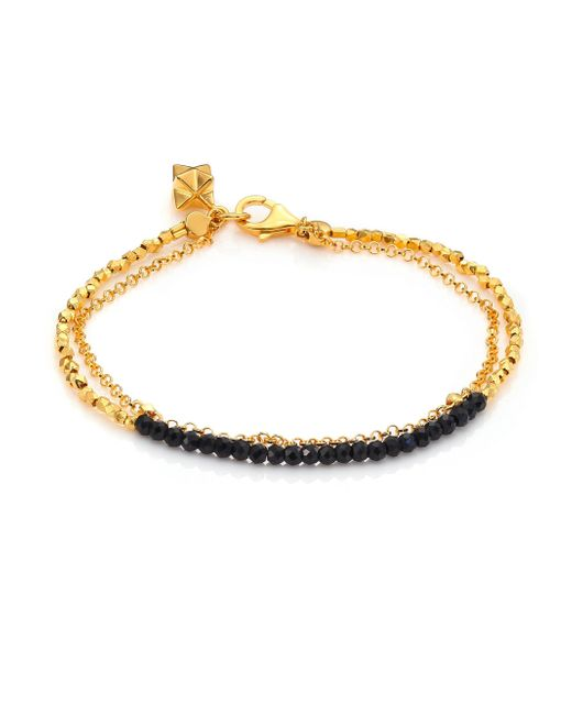 Astley Clarke - Metallic Biography Black Spinel Beaded Friendship Bracelet - Lyst