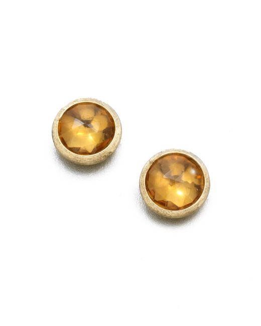 Marco Bicego - Metallic Jaipur Citrine & 18k Yellow Gold Stud Earrings - Lyst