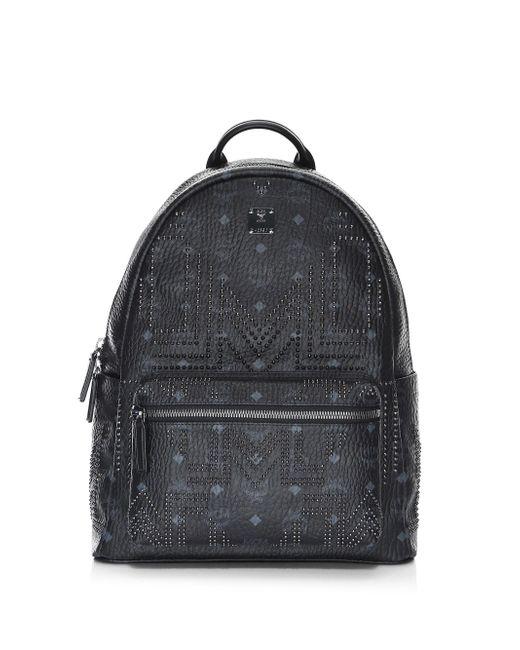 MCM - Black Medium Stark Gunta Studded Backpack for Men - Lyst