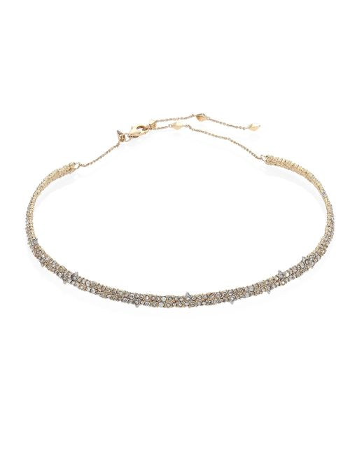 Alexis Bittar | Metallic Crystal-encrusted Spiked Choker | Lyst