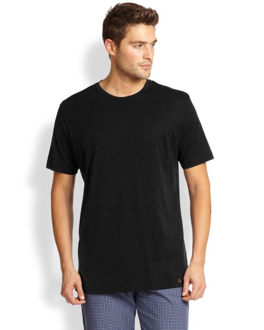 Hanro - Black Night & Day Crewneck Tee for Men - Lyst