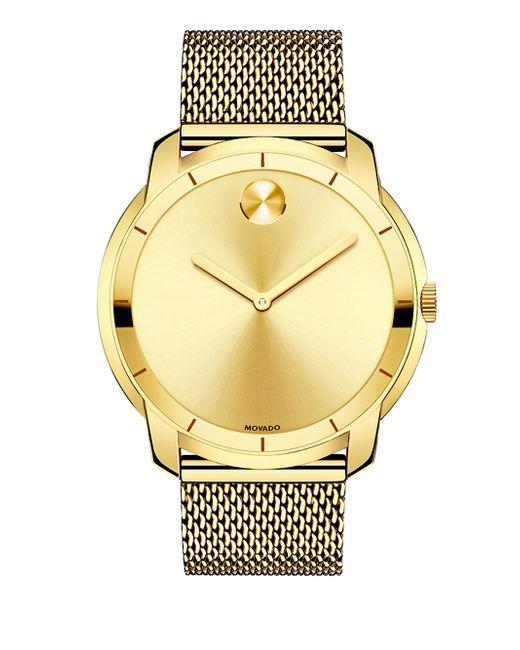 Movado - Metallic Bold Diamond & Goldtone Stainless Steel Mesh Bracelet Watch - Lyst