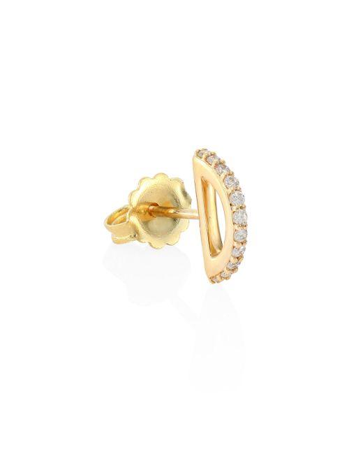 Paige Novick - Metallic Cara Diamond & 18k Yellow Gold Single Stud Earring - Lyst