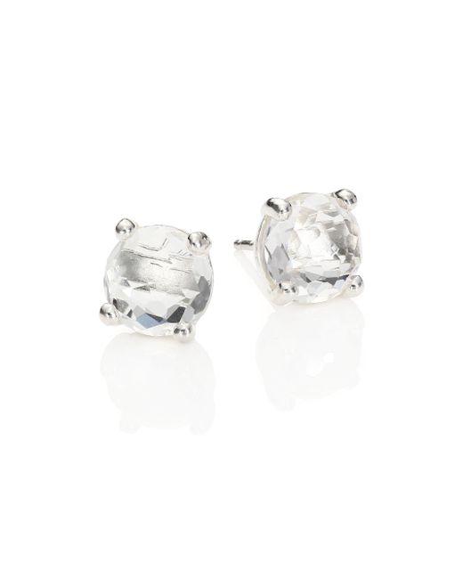 Ippolita - Metallic Rock Candy Clear Quartz & Sterling Silver Stud Earrings - Lyst