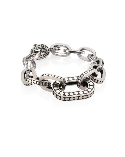 John Hardy - Metallic Dot Sterling Silver Graduated Link Bracelet - Lyst