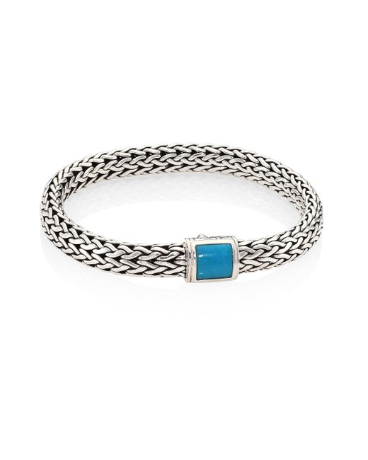 John Hardy - Metallic Classic Chain Medium Turquoise & Sterling Silver Bracelet - Lyst