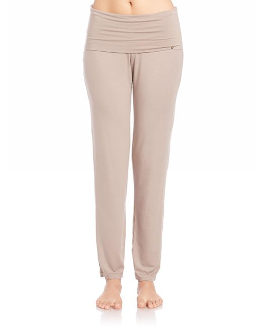 Hanro - Brown Yoga Lounge Pants - Lyst