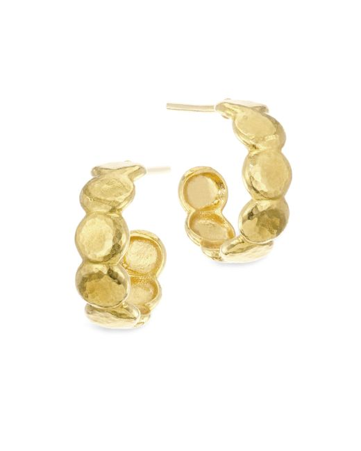 Gurhan - Metallic 22k Gold Pebble Hoop Earrings - Lyst