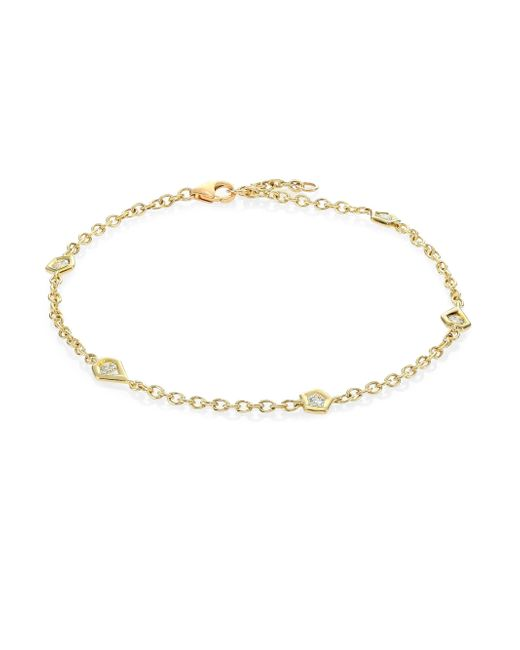 Ron Hami - Metallic Rain Diamond & 18k Yellow Gold Organic Station Bracelet - Lyst