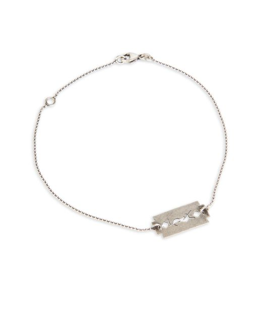 Saint Laurent - Metallic Razor Blade Bracelet for Men - Lyst