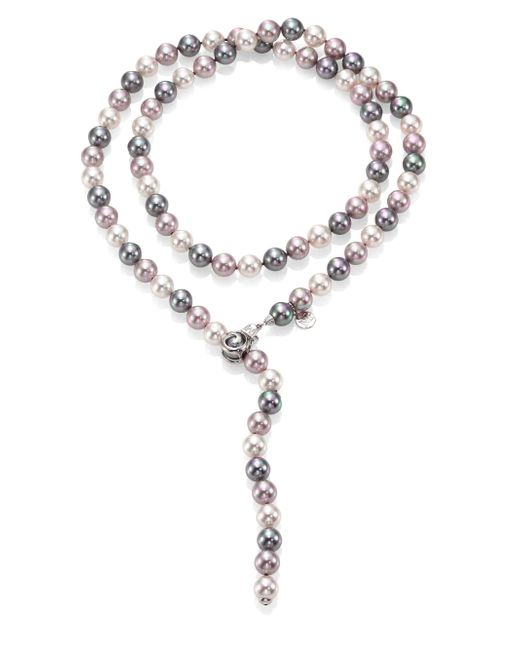 Majorica - Metallic 10mm Multicolor Round Pearl & Sterling Silver Strand Necklace/35 - Lyst