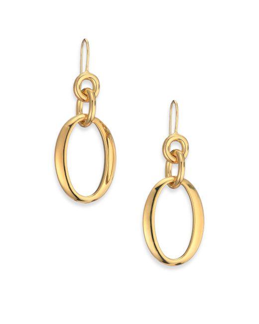 Ippolita | Metallic Glamazon 18k Yellow Gold Oval Link Drop Earrings | Lyst
