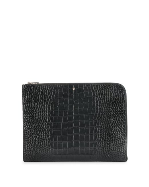 Alexander McQueen - Black Leather Zip Pouch for Men - Lyst