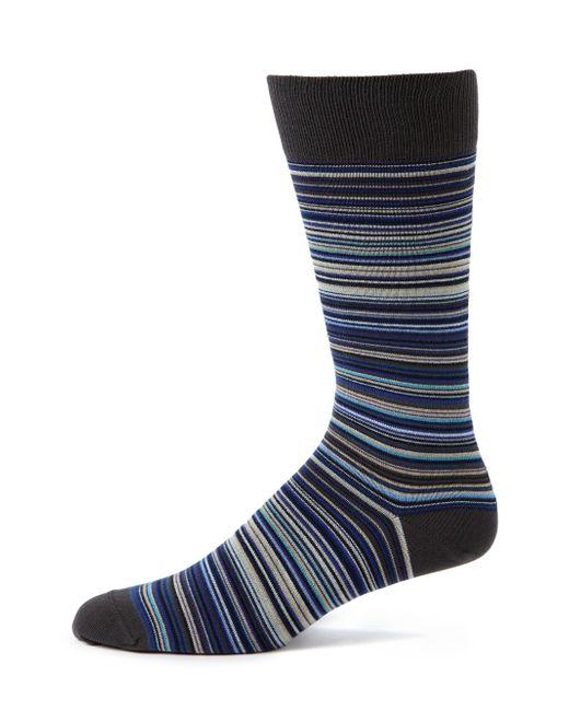 Paul Smith - Blue Variegated Stripe Socks for Men - Lyst