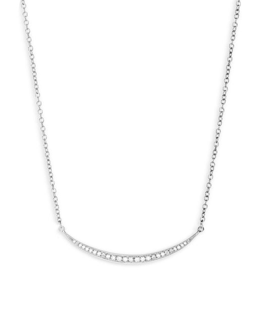 EF Collection - Metallic Diamond Mini Crescent Necklace - Lyst