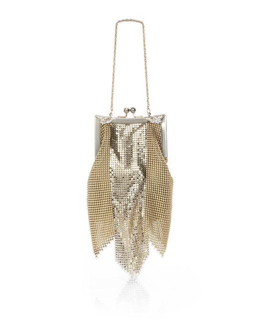 Whiting & Davis | Metallic Newport Goldtone Mesh Shoulder Bag | Lyst