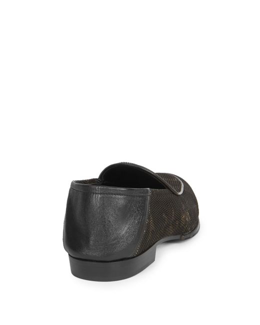 Balmain Camo-Print Eve Leather Slippers 4ugS6gS