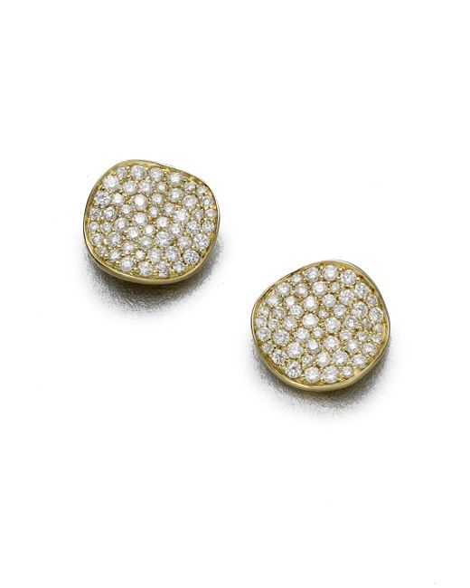 Ippolita - Metallic Stardust Diamond & 18k Yellow Gold Large Stud Earrings - Lyst