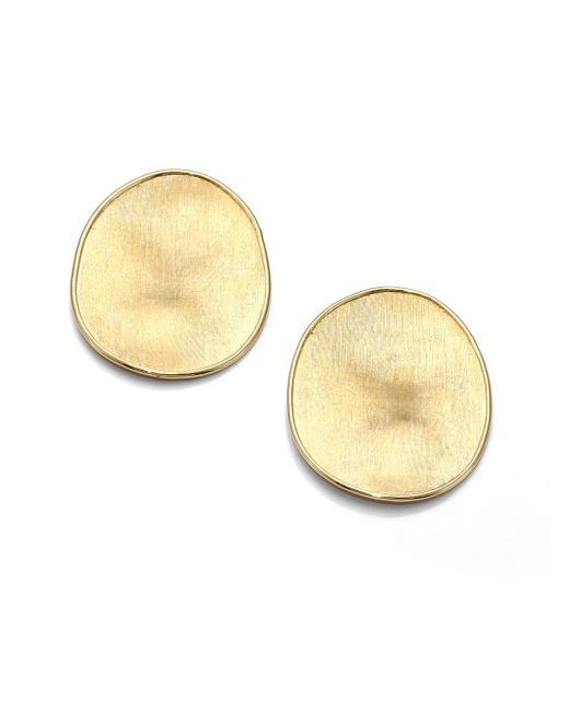 Marco Bicego - Metallic Lunaria 18k Yellow Gold Large Button Earrings - Lyst