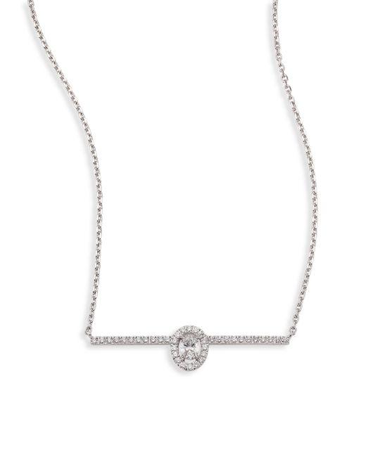 Messika | Metallic Glam'azone Pave Diamond & 18k White Gold Necklace | Lyst