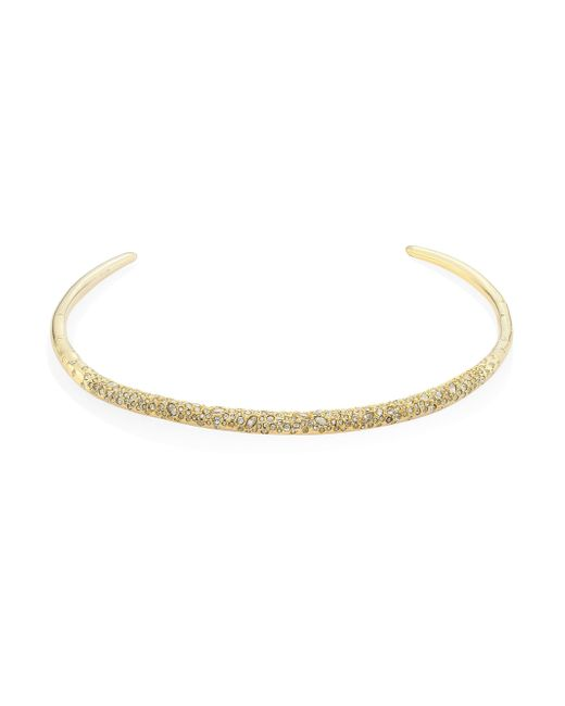 Alexis Bittar | Metallic Elements Thin Crystal-encrusted Collar Neckalce | Lyst