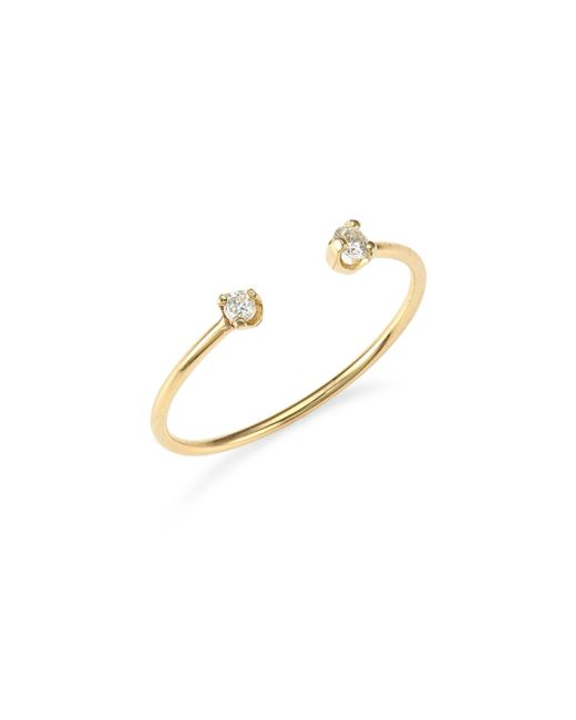 Zoe Chicco - Metallic 14k Yellow Gold Open Diamond Ring - Lyst