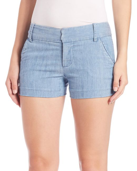 Alice + Olivia - Blue Cady Shorts - Lyst
