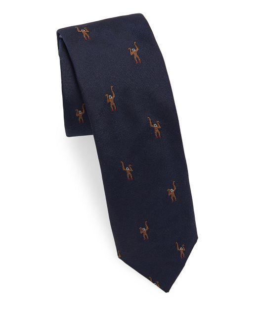 Paul Smith - Blue Deer Silk Tie for Men - Lyst