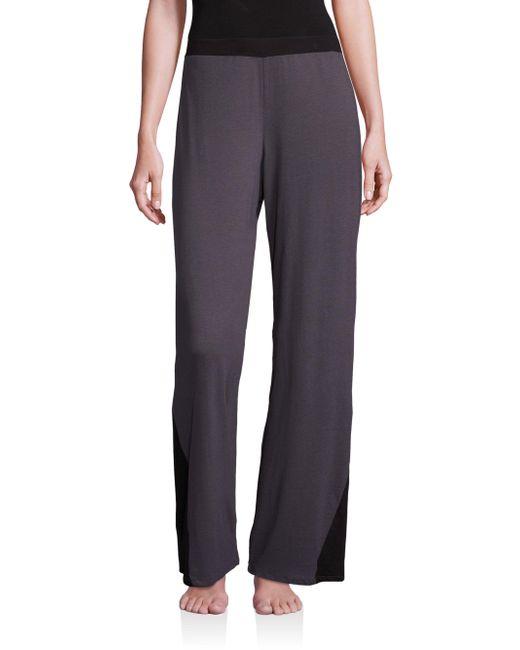 Cosabella - Black Maxi Wide-leg Pants - Lyst