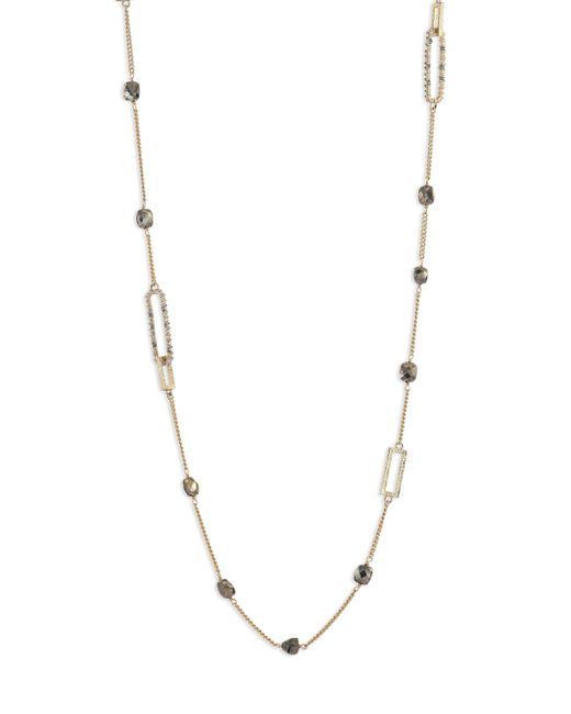 Alexis Bittar - Metallic Crystal-encrusted Mixed Stone Station Necklace - Lyst