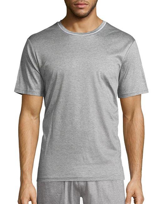 Saks Fifth Avenue - Gray Short Sleeve Crewneck Tee for Men - Lyst