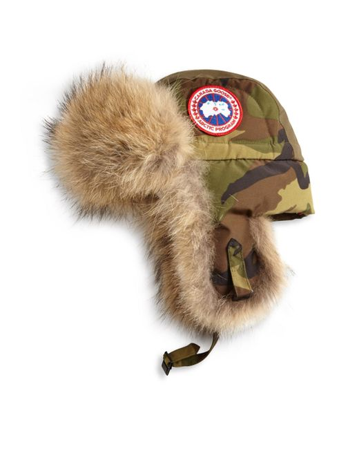 Canada Goose - Multicolor Coyote Fur Camo Aviator Hat for Men - Lyst