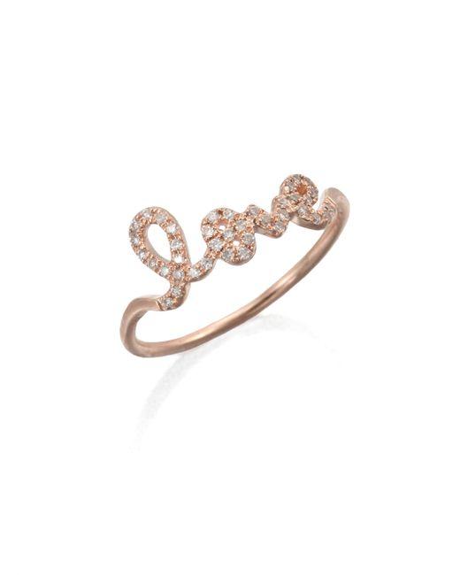 Sydney Evan - Pink Diamond & 14k Rose Gold Love Ring - Lyst