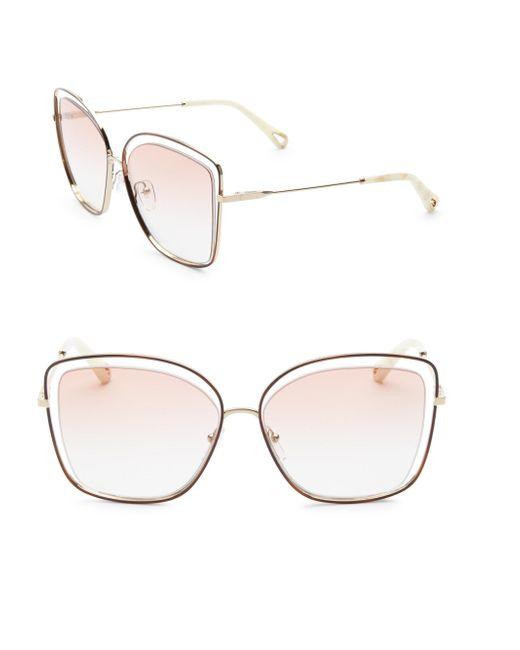 Chloé - Multicolor Poppy Butterfly Sunglasses - Lyst