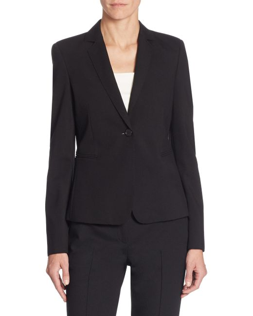 Akris Punto - Black Elements Jersey One-button Blazer - Lyst