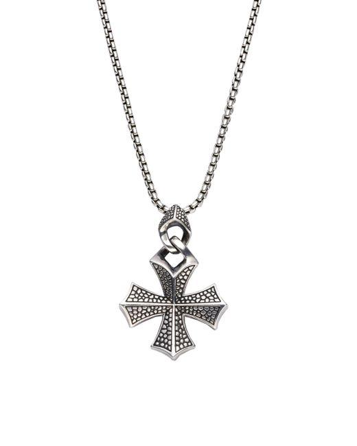 Stephen Webster - Metallic Sterling Silver Cross Necklace for Men - Lyst