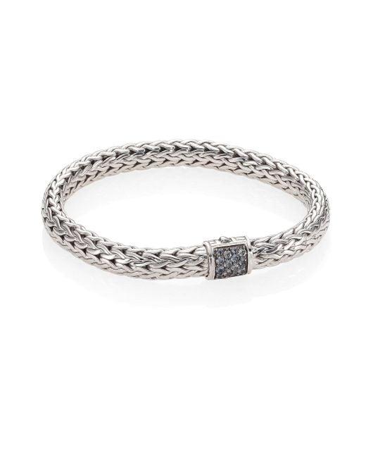 John Hardy | Gray Classic Chain Medium Grey Sapphire & Sterling Silver Bracelet | Lyst