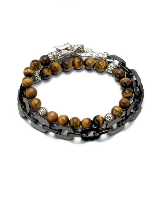 John Hardy - Multicolor Naga Silver Beaded Bracelet for Men - Lyst
