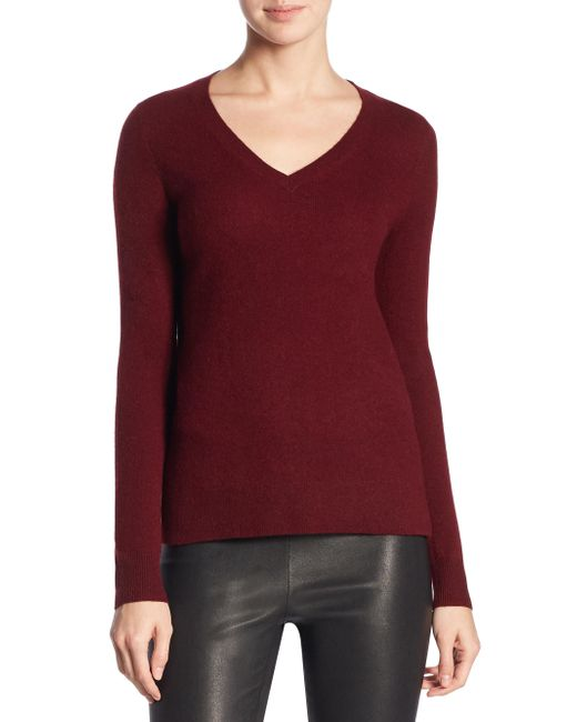 Saks Fifth Avenue - Red Collection Cashmere V-neck Sweater - Lyst